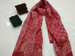 Jaipuri Chanderi silk stole