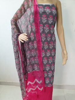 Cotton Suit With Chiffon Dupatta 1