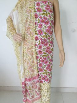 Cotton Suit With Chiffon Dupatta 13