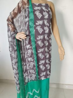 Cotton Suit With Chiffon Dupatta 16