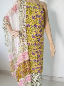 Cotton Suit With Chiffon Dupatta 22