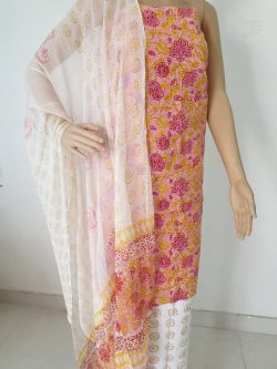 Cotton Suit With Chiffon Dupatta 25