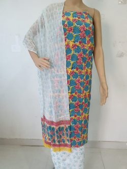 Cotton Suit With Chiffon Dupatta 27