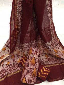 Batik Print Chanderi Silk Suit (23)