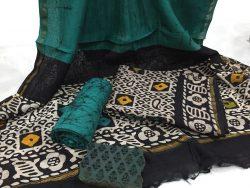 Batik Print Chanderi Silk Suit (24)