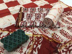 Batik Print Chanderi Silk Suit (29)