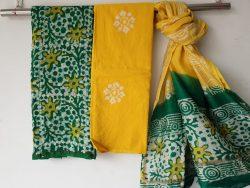 Batik Print Chanderi Silk Suit (30)