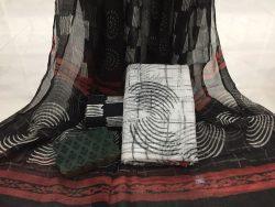 Black And White Kota Doria Suit (2)