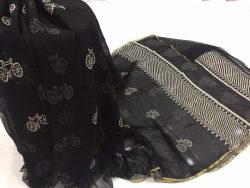 Black & White Chiffon Saree (3)
