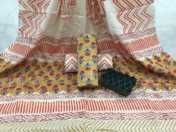 Booty Print Rapid Cotton Dupatta Suit Set (1)