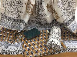 Booty Print Rapid Cotton Dupatta Suit Set (2)