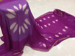 Clamp Chiffon Saree (3)