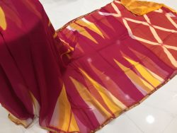 Clamp Chiffon Saree (5)