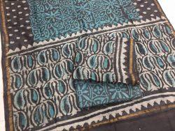 Dabu Batik Print Chanderi Suit (2)