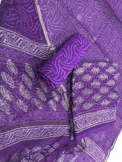 Discharge Color Kota Doriya Suit (1)