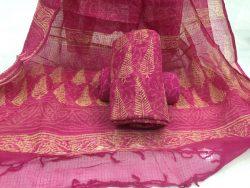 Discharge Color Kota Doriya Suit (5)
