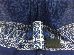 Indigo Dabu print daily wear Cotton Dupatta salwar Suit set