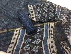 Indigo dabu prints party wear kota doria suit set