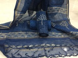 Indigo dabu tree prints party wear kota doria suit set