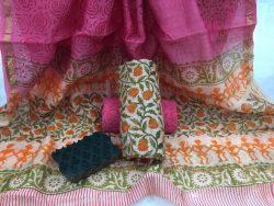 Kalamkari Pigment Chanderi Silk Suit (1)
