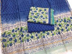 Kalamkari Pigment Chanderi Silk Suit (2)