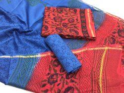 Kalamkari Pigment Chanderi Silk Suit (3)