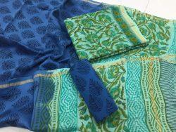 Kalamkari Pigment Chanderi Silk Suit (4)