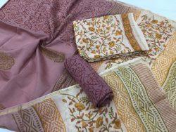 Kalamkari Pigment Chanderi Silk Suit (5)