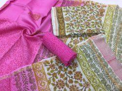 Kalamkari Pigment Chanderi Silk Suit (6)