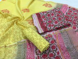 Kalamkari Pigment Chanderi Silk Suit (7)