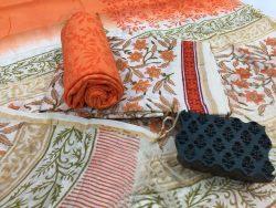 Kalamkari Pigment Chanderi Silk Suit (8)