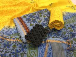 Kalamkari Pigment Chanderi Silk Suit (9)