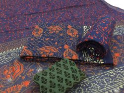 Kantha Work Cotton Suit With Pure Chiffon Dupatta (6)