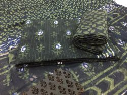 Kantha Work Cotton Suit With Pure Chiffon Dupatta (8)
