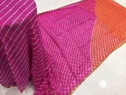 Lehariya Chiffon Saree With Blouse (3)
