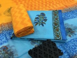 Mugal Print Kantha Suit Set With Chiffon Dupatta (9)