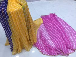 Multicolor Chiffon Saree With Blouse