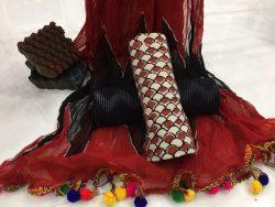 Pompom Bagru Print Cotton Suit (1)