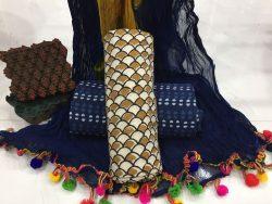 Pompom Bagru Print Cotton Suit (3)