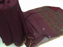 Pure Chiffon Saree With Blouse (2)