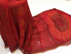 Pure Chiffon Saree With Blouse (7)
