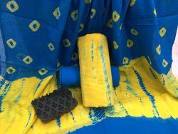 Shibori Bandhej Cotton Mulmul Dupatta Suit Set (3)