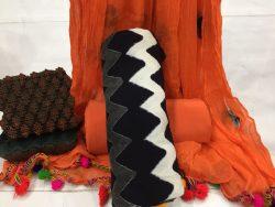 Zigzag Print Cotton Pompom Suit Set