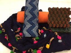Zigzag Pure Cotton Pompom Cotton Suit Set (1)