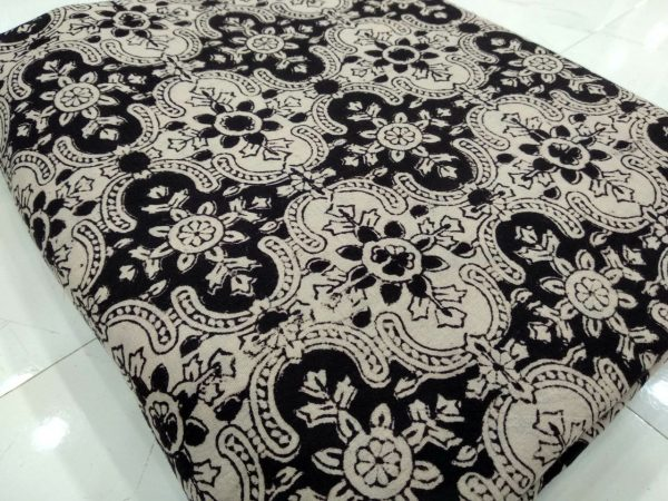 Black bagruprint daily wear cotton running material