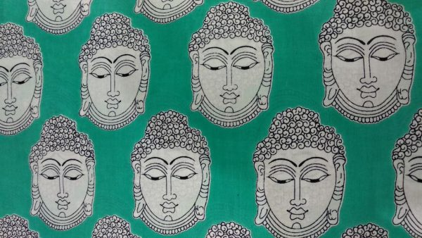 Bagru kalamkari print cotton running material (Gray, Jungle green, Navy blue, Pink)