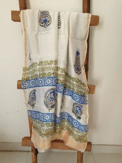 Block Printed Chanderi Dupattas 7