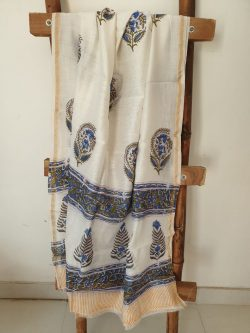 Block Printed Chanderi Dupattas 8