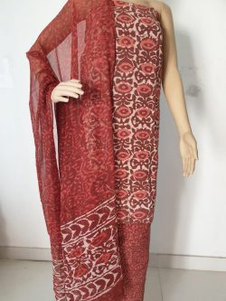 Printed Cotton Suits With Chiffon Dupatta 11