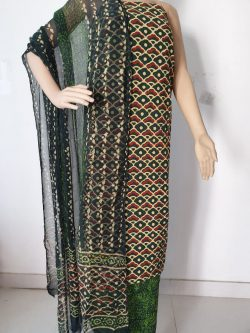 Printed Cotton Suits With Chiffon Dupatta 12
